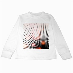 Radial Dotted Lights Kids Long Sleeve T Shirts