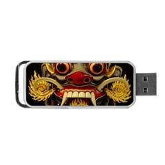 Bali Mask Portable Usb Flash (two Sides) by BangZart