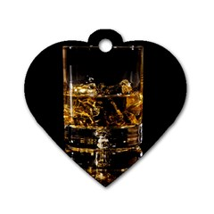 Drink Good Whiskey Dog Tag Heart (one Side) by BangZart