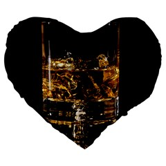 Drink Good Whiskey Large 19  Premium Heart Shape Cushions by BangZart