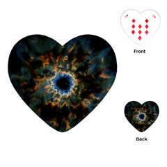 Crazy  Giant Galaxy Nebula Playing Cards (heart)  by BangZart
