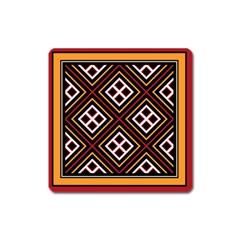 Toraja Pattern Pa re po  Sanguba ( Dancing Alone ) Square Magnet by BangZart