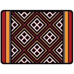 Toraja Pattern Pa re po  Sanguba ( Dancing Alone ) Double Sided Fleece Blanket (large)  by BangZart