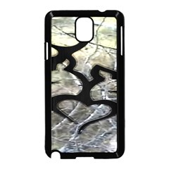 Black Love Browning Deer Camo Samsung Galaxy Note 3 Neo Hardshell Case (black) by BangZart