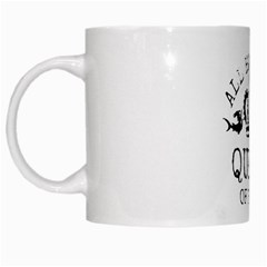 Queen Of Party White Coffee Mug by derpfudge