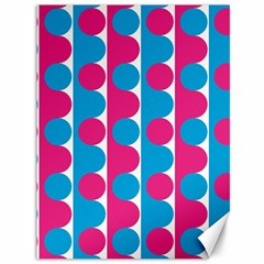 Pink And Bluedots Pattern Canvas 36  X 48   by BangZart