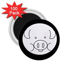 Pig Logo 2 25  Magnets (100 Pack)  by BangZart