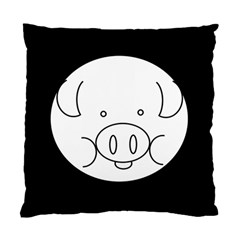 Pig Logo Standard Cushion Case (one Side) by BangZart
