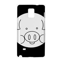Pig Logo Samsung Galaxy Note 4 Hardshell Case by BangZart