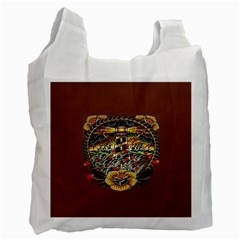 Tattoo Art Print Traditional Artwork Lighthouse Wave Recycle Bag (one Side) by BangZart