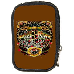 Tattoo Art Print Traditional Artwork Lighthouse Wave Compact Camera Cases by BangZart