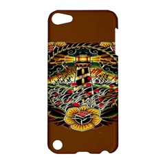 Tattoo Art Print Traditional Artwork Lighthouse Wave Apple Ipod Touch 5 Hardshell Case by BangZart