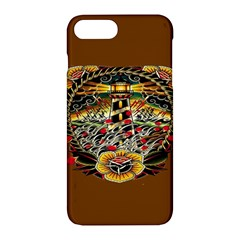 Tattoo Art Print Traditional Artwork Lighthouse Wave Apple Iphone 7 Plus Hardshell Case by BangZart