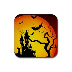 Halloween Night Terrors Rubber Coaster (square)  by BangZart