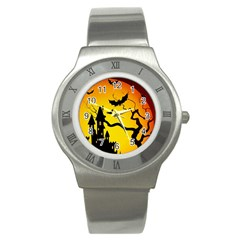 Halloween Night Terrors Stainless Steel Watch by BangZart