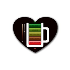 Black Energy Battery Life Heart Coaster (4 Pack)  by BangZart