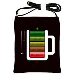 Black Energy Battery Life Shoulder Sling Bags by BangZart