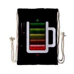 Black Energy Battery Life Drawstring Bag (small)