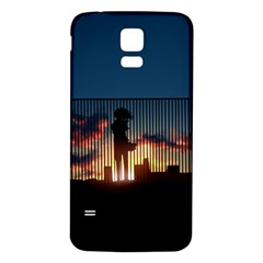 Art Sunset Anime Afternoon Samsung Galaxy S5 Back Case (white) by BangZart