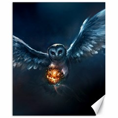 Owl And Fire Ball Canvas 16  X 20   by BangZart
