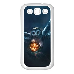 Owl And Fire Ball Samsung Galaxy S3 Back Case (white) by BangZart