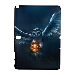 Owl And Fire Ball Galaxy Note 1 by BangZart