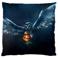 Owl And Fire Ball Standard Flano Cushion Case (one Side) by BangZart