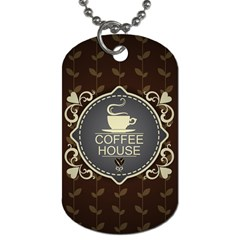 Coffee House Dog Tag (one Side) by BangZart
