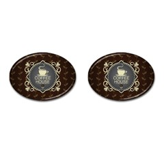 Coffee House Cufflinks (oval) by BangZart