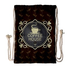 Coffee House Drawstring Bag (large) by BangZart