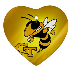 Georgia Institute Of Technology Ga Tech Heart Ornament (two Sides) by BangZart