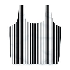 Barcode Pattern Full Print Recycle Bags (l)  by BangZart