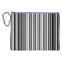 Barcode Pattern Canvas Cosmetic Bag (xxl) by BangZart