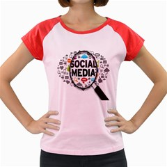 Social Media Computer Internet Typography Text Poster Women s Cap Sleeve T Shirt by BangZart