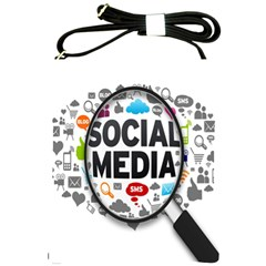 Social Media Computer Internet Typography Text Poster Shoulder Sling Bags by BangZart