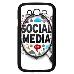 Social Media Computer Internet Typography Text Poster Samsung Galaxy Grand Duos I9082 Case (black)