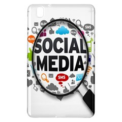 Social Media Computer Internet Typography Text Poster Samsung Galaxy Tab Pro 8 4 Hardshell Case by BangZart
