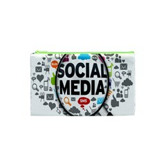 Social Media Computer Internet Typography Text Poster Cosmetic Bag (xs) by BangZart
