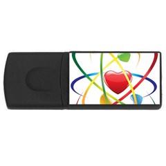 Love Rectangular Usb Flash Drive by BangZart