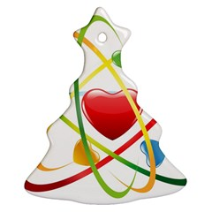Love Christmas Tree Ornament (two Sides) by BangZart