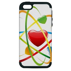 Love Apple Iphone 5 Hardshell Case (pc+silicone) by BangZart