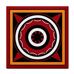 Toraja Pattern Pa barre Allo Face Towel by BangZart