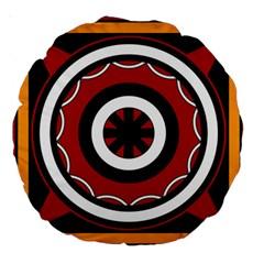 Toraja Pattern Pa barre Allo Large 18  Premium Round Cushions by BangZart