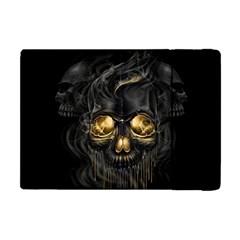 Art Fiction Black Skeletons Skull Smoke Apple Ipad Mini Flip Case by BangZart