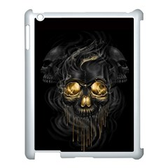 Art Fiction Black Skeletons Skull Smoke Apple Ipad 3/4 Case (white)