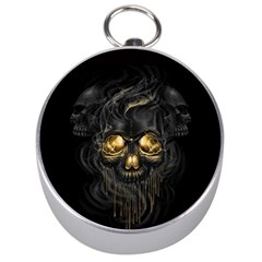 Art Fiction Black Skeletons Skull Smoke Silver Compasses by BangZart