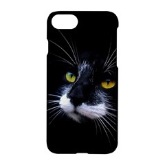 Face Black Cat Apple Iphone 7 Hardshell Case by BangZart