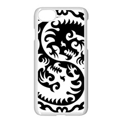 Ying Yang Tattoo Apple Iphone 7 Seamless Case (white) by BangZart
