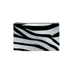 White Tiger Skin Cosmetic Bag (small)  by BangZart