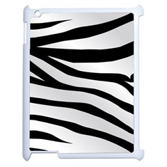 White Tiger Skin Apple Ipad 2 Case (white) by BangZart